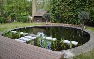 ombouw zwembad zwemvijver